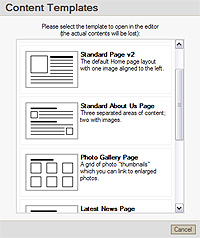 template page layouts