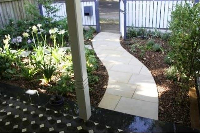 Garden path idea - curving