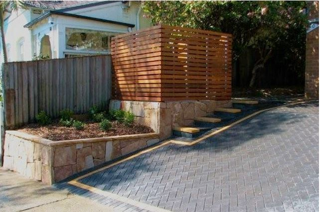 Retaining wall - landscape construction Sydney