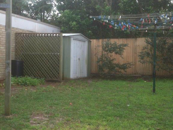 Sydney Hills Hoist  and badly hidden shed