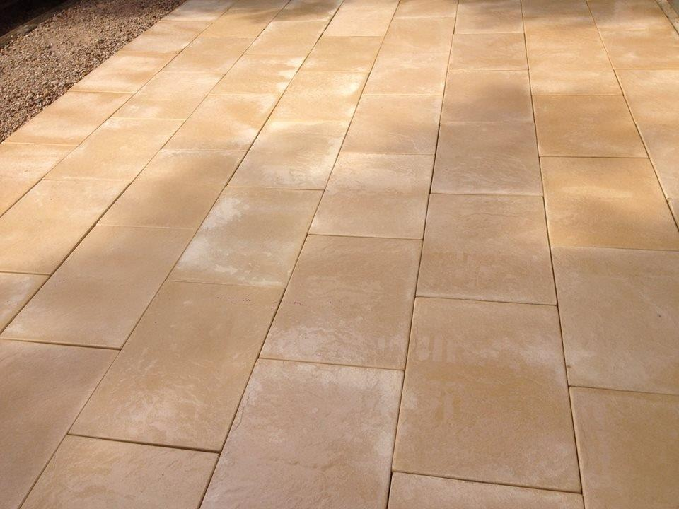 Sandsstone colour pavers