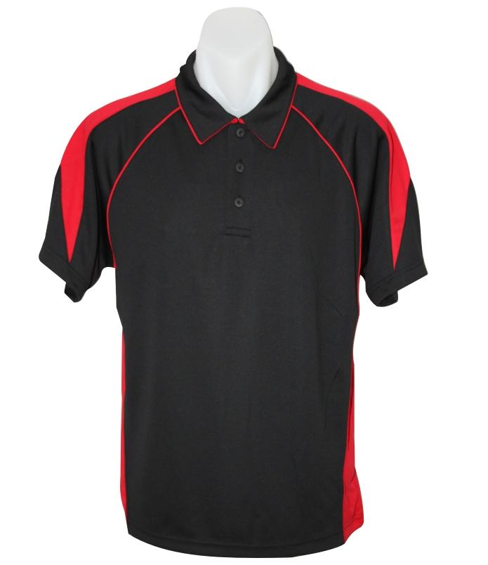 black Red premier polo shirt