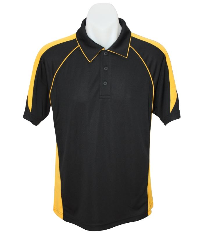 Black / Gold premier polo shirt