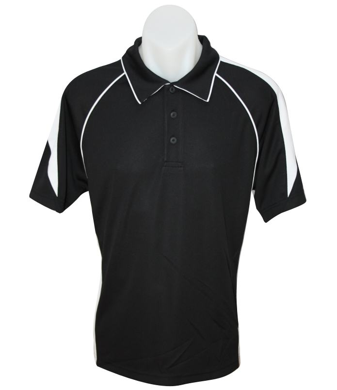 Black White polo shirt