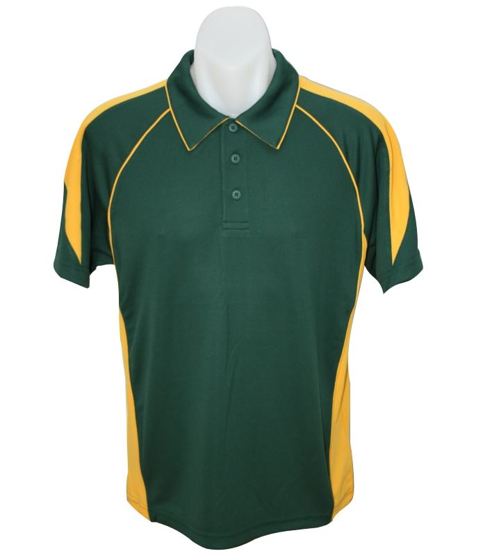 Bottle / Gold mens premier polo shirt
