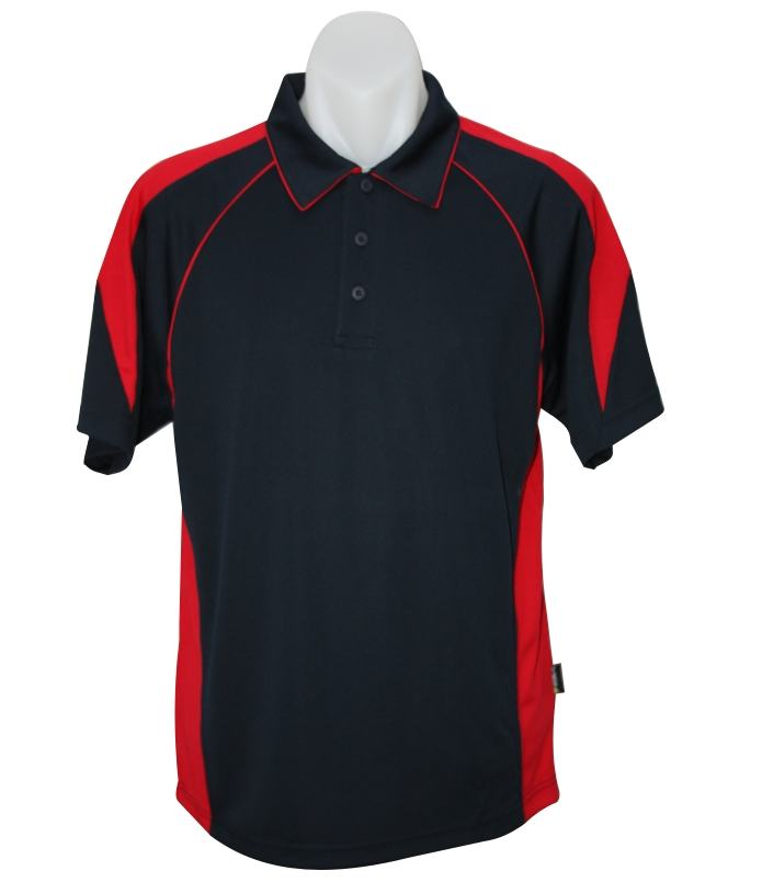 Navy red premier mens polo shirt