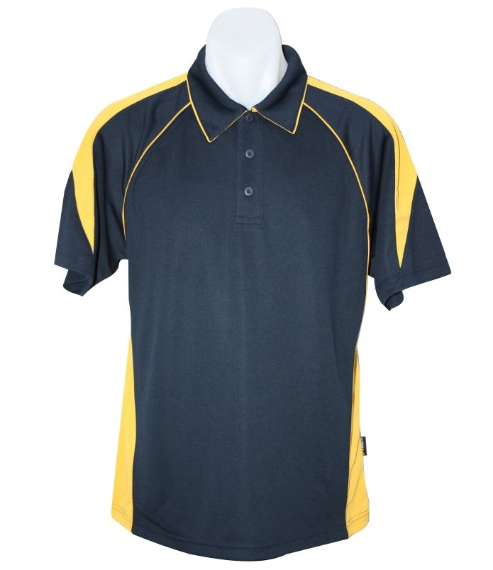 navy gold premier polo shirt