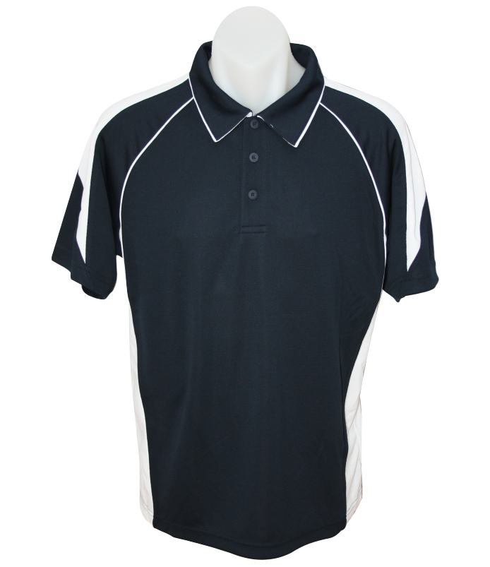 navy white premier mens polo shirt