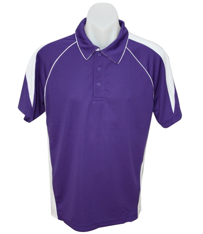 purple  white premier polo shirt
