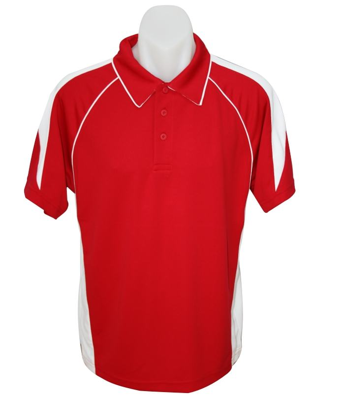 red white premier mens polo shirt