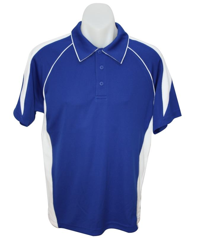 royal white premier polo shirt