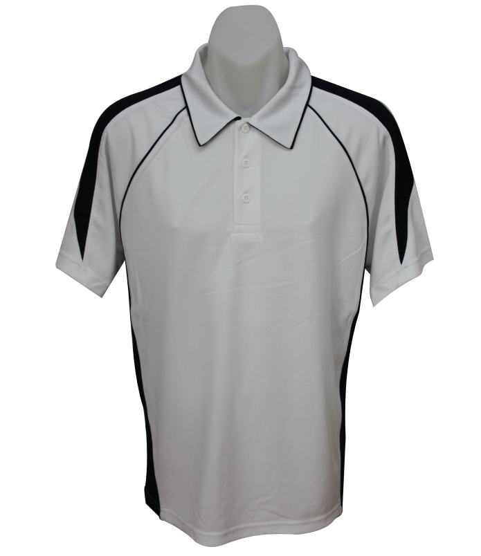 white navy mens polo shirt