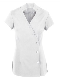 HEALTH BEAUTY/Tunic/Crossover Tunic/H134LS_White