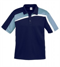 Velocity Polo/P111MS_Navy_SpringBlue_White.