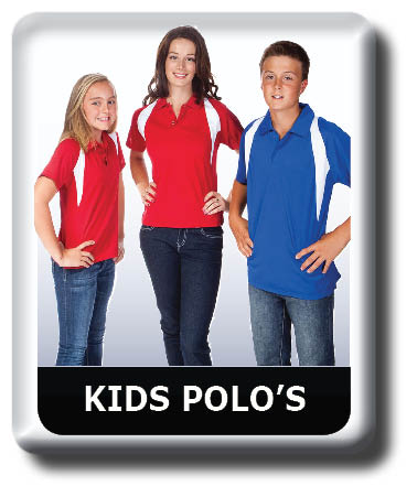 KIDS POLO SHIRTS, Cool Dry,  Team Colours, Quick Dry, Breathable, Kids Sizes