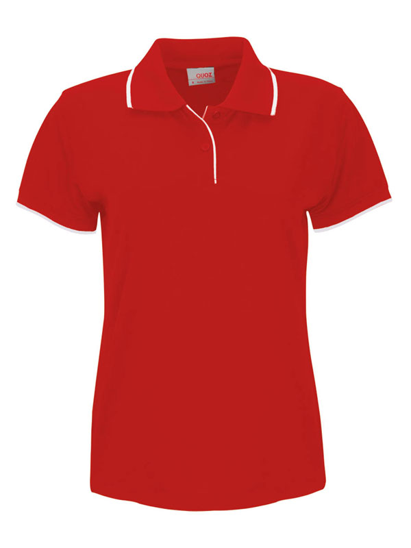 red white lady focus polo shirt