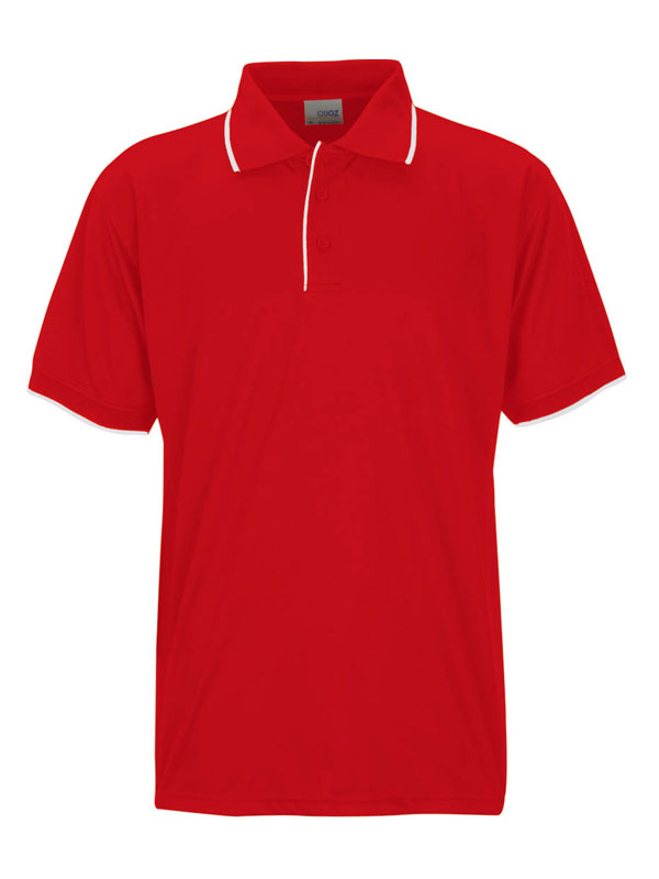 red white mens focus polo shirt