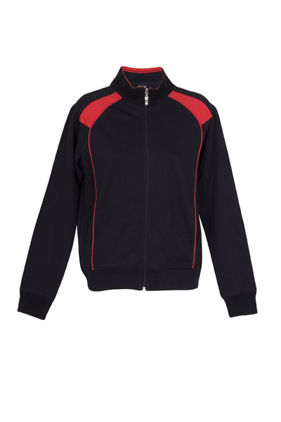 Ramo/Unbrushed Fleece sweater/F400UN-black-red-