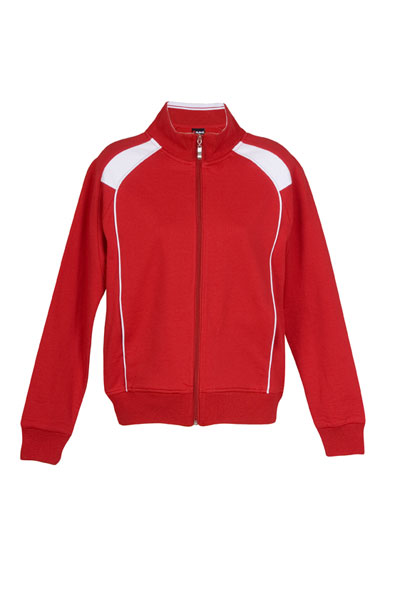 Unbrushed Fleece sweater/F400UN-red-white-