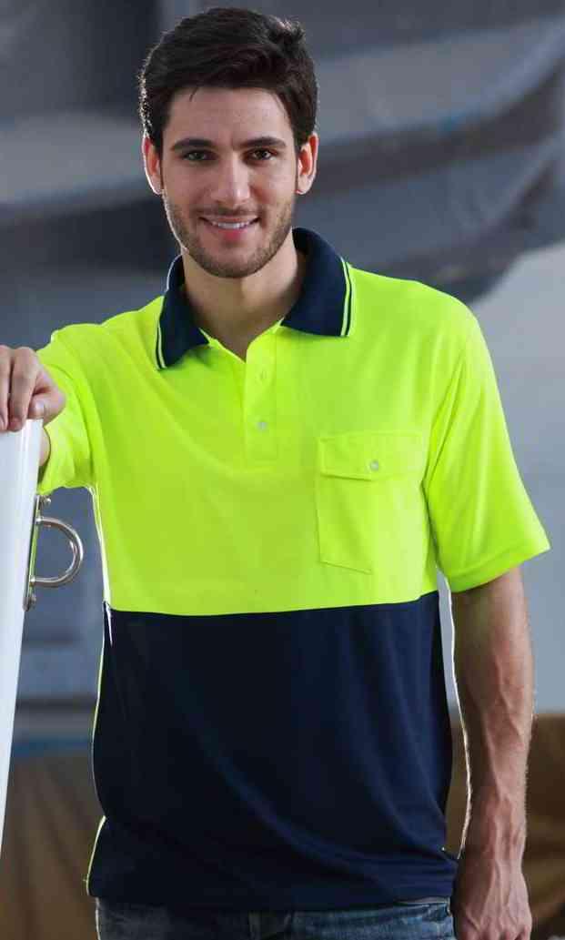 Bocini hi vis safety polo shirt