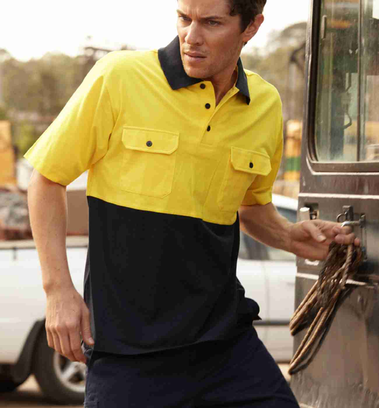 Bocini Hi Vis cotton jersy POLO