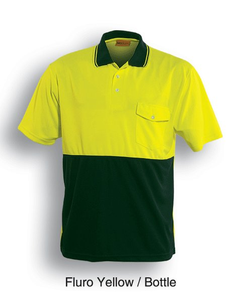yellow bottle safety polo shirt