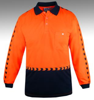 long sleeve safet polo shirt