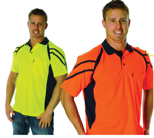 3979 DNC striped panel polo