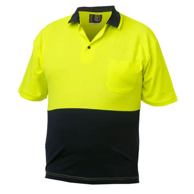 Impact gear safety hi vis work shirts cool dry dnc for Hi vis safety shirts