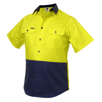 Impact gear safety work wear hi vis work shirts cooldry for Work polo shirts embroidered