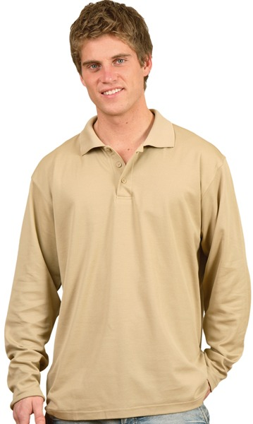 MENS Long sleeve polo shirt