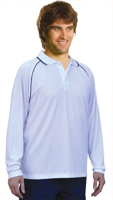 PS43 Long sleeve polo shirt
