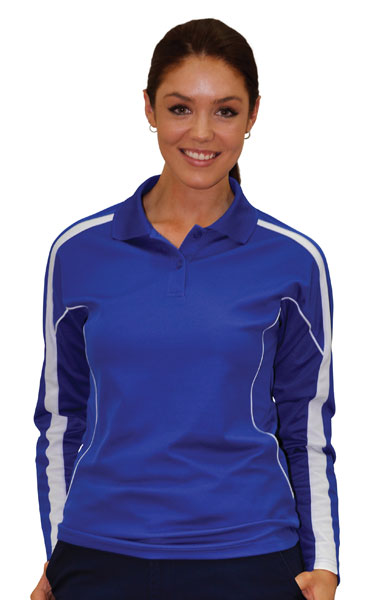 Ladies long sleeve cooldry polo shirts