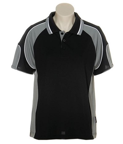 Black Ashe 309 Glenelg Polo shirt,  Cool dry, breathable, light weight, Mens, Ladies, Kids
