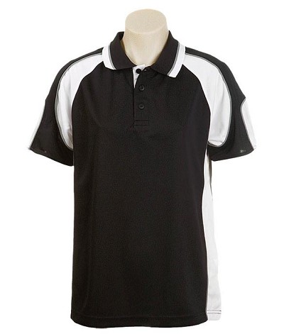 black /white 309 Glenelg Polo shirt,  Cool dry, breathable, light weight, Mens, Ladies, Kids