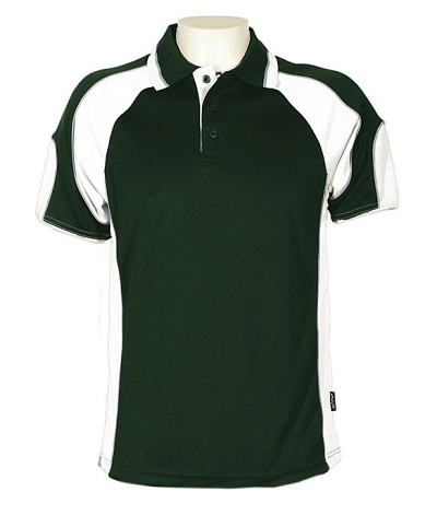 bottle /white 309 Glenelg Polo shirt,  Cool dry, breathable, light weight, Mens, Ladies, Kids