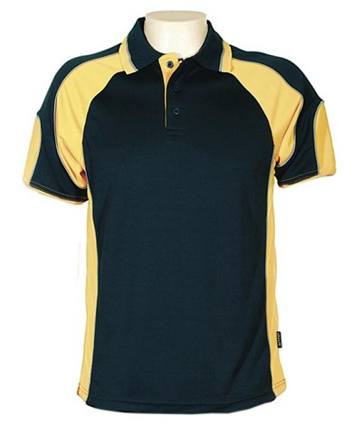 Navy Gold 309 Glenelg Polo shirt,  Cool dry, breathable, light weight, Mens, Ladies, Kids