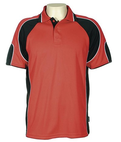 Glenelg Polo/Red Black 309 Glenelg Polo shirt,  Cool dry, breathable, light weight, Mens, Ladies, Kids