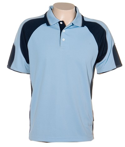 Glenelg Polo/Sky Navy, 309 Glenelg Polo shirt,  Cool dry, breathable, light weight, Mens, Ladies, Kids