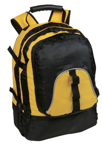 yellow black backpack
