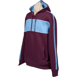 burgundy Sky White north shore hoodie