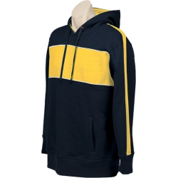 Navy Gold White Hoodie