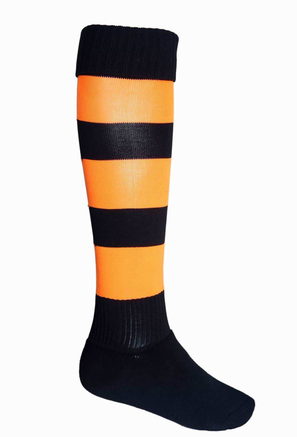 bocini/socks/small black orange footy socks