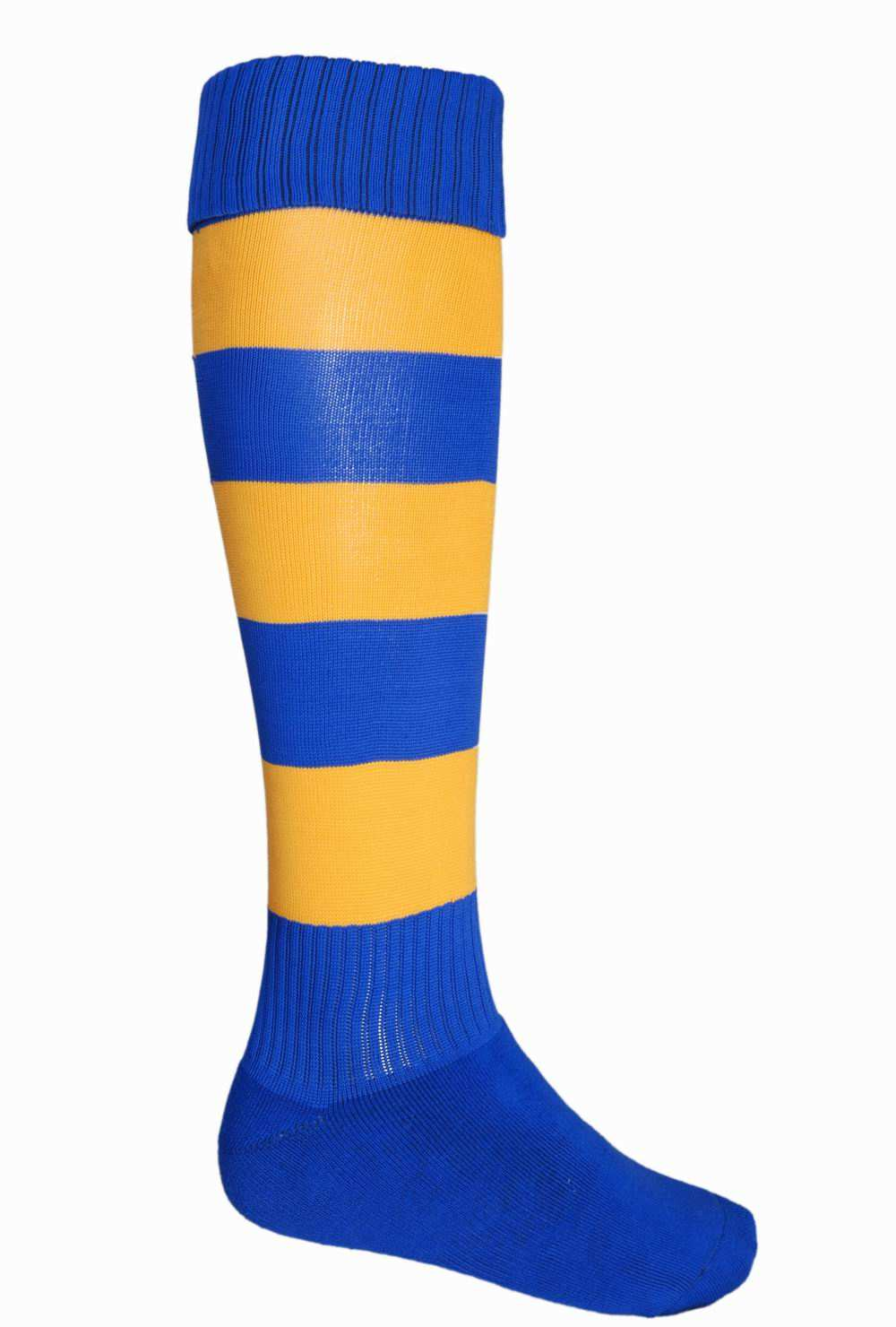 socks/small royal gold footy socks