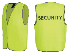 Hi Vis Vest with SECURITY