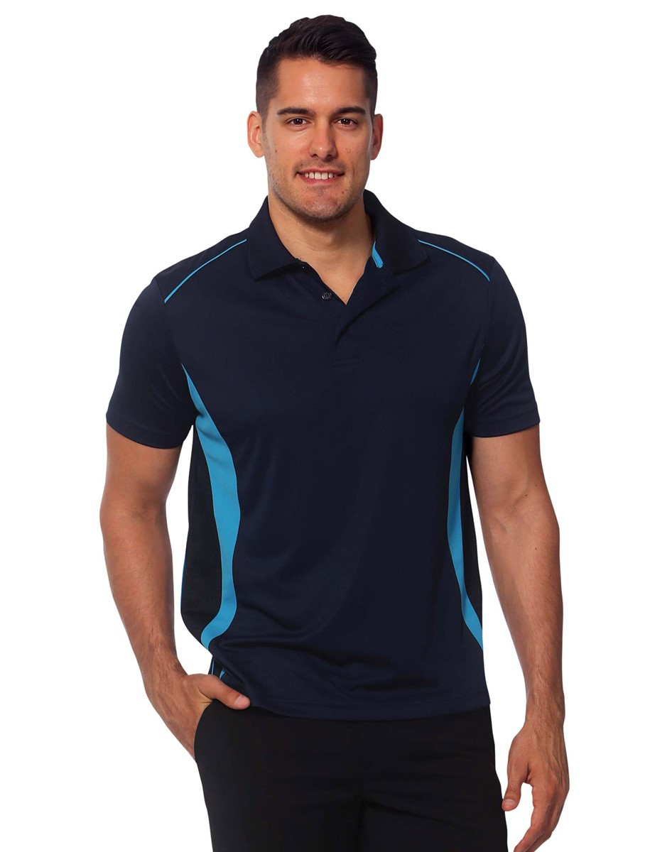 Impact gear pursuit polo shirt cool dry for Work polo shirts with logo