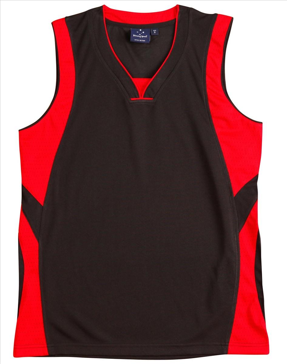 sportswear/basketball/TS83_83K RED BLACK