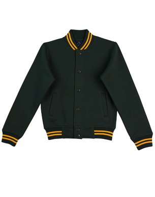 bottle gold varsity jacket