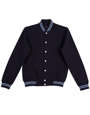 navy sky varsity fleece jacket