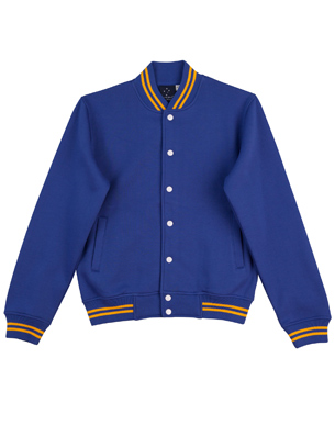 royal gold varsity fleece jacket